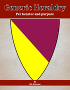 Generic Heraldry: Norman Per bend or and purpure