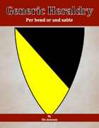 Generic Heraldry: Norman Per bend or and sable
