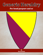 Generic Heraldry: Norman Per bend purpure and or