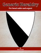 Generic Heraldry: Norman Per bend sable and argent