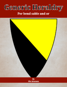 Generic Heraldry: Norman Per bend sable and or
