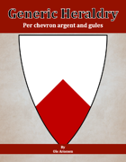 Generic Heraldry: Norman Per chevron argent and gules