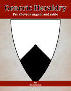 Generic Heraldry: Norman Per chevron argent and sable