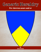 Generic Heraldry: Norman Per chevron azure and or