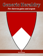 Generic Heraldry: Norman Per chevron gules and argent
