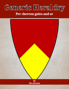 Generic Heraldry: Norman Per chevron gules and or