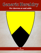 Generic Heraldry: Norman Per chevron or and sable