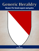Generic Heraldry: Heater Per bend argent and gules