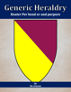 Generic Heraldry: Heater Per bend or and purpure