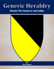 Generic Heraldry: Heater Per bend or and sable