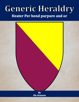 Generic Heraldry: Heater Per bend purpure and or