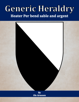 Generic Heraldry: Heater Per bend sable and argent