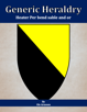 Generic Heraldry: Heater Per bend sable and or