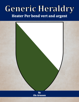 Generic Heraldry: Heater Per bend vert and argent
