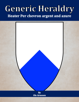 Generic Heraldry: Heater Per chevron argent and azure
