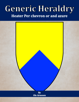 Generic Heraldry: Heater Per chevron or and azure