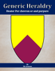 Generic Heraldry: Heater Per chevron or and purpure