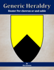 Generic Heraldry: Heater Per chevron or and sable