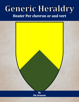 Generic Heraldry: Heater Per chevron or and vert