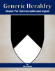 Generic Heraldry: Heater Per chevron sable and argent