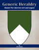 Generic Heraldry: Heater Per chevron vert and argent