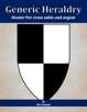 Generic Heraldry: Heater Per cross sable and argent