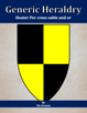 Generic Heraldry: Heater Per cross sable and or