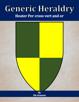Generic Heraldry: Heater Per cross vert and or