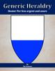 Generic Heraldry: Heater Per fess argent and azure