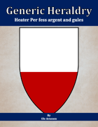 Generic Heraldry: Heater Per fess argent and gules