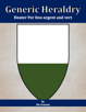 Generic Heraldry: Heater Per fess argent and vert