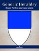 Generic Heraldry: Heater Per bend azure and argent