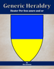 Generic Heraldry: Heater Per fess azure and or