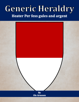 Generic Heraldry: Heater Per fess gules and argent