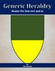 Generic Heraldry: Heater Per fess vert and or