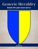 Generic Heraldry: Heater Per pale azure and or