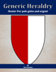 Generic Heraldry: Heater Per pale gules and argent