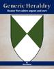 Generic Heraldry: Heater Per saltire argent and vert