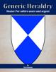 Generic Heraldry: Heater Per saltire azure and argent