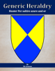 Generic Heraldry: Heater Per saltire azure and or