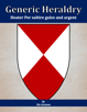 Generic Heraldry: Heater Per saltire gules and argent