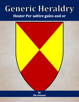 Generic Heraldry: Heater Per saltire gules and or