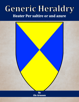 Generic Heraldry: Heater Per saltire or and azure