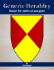 Generic Heraldry: Heater Per saltire or and gules