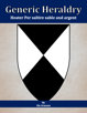 Generic Heraldry: Heater Per saltire sable and argent
