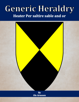 Generic Heraldry: Heater Per saltire sable and or