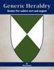 Generic Heraldry: Heater Per saltire vert and argent
