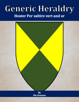 Generic Heraldry: Heater Per saltire vert and or