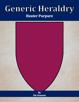 Generic Heraldry: Heater Purpure