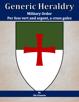 Generic Heraldry: Military Order- Per fess, vert and argent, a cross patée gules